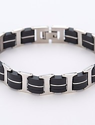 cheap -Men's Stylish Bracelet - Stainless Creative Simple, Trendy, Fashion Bracelet Black For Daily / Date