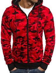 economico -Per uomo Essenziale / Militare Felpa con cappuccio - Con stampe, Monocolore / Camouflage