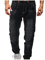 abordables -Hombre Tallas Grandes Vaqueros Pantalones - Un Color