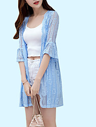 cheap -Women's Cover-Up - Solid Colored Lace Boy Leg