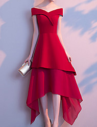 economico -Per donna Moda città / sofisticato Fodero Vestito Tinta unita Medio