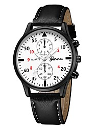 cheap -Geneva Women's Wrist Watch Quartz New Design Casual Watch Cool Leather Band Analog Casual Fashion Black / Brown / Navy - Black / White White / Brown Silver / Blue One Year Battery Life