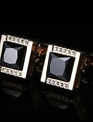 Недорогие -Геометрической формы Золотой Запонки Медь / Сплав Классический / Элегантный стиль Муж. Бижутерия Назначение Для вечеринок / Подарок