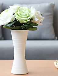 baratos -Flores artificiais 9 Ramo Clássico Casamento / Modern Rosas Flor de Mesa