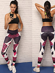 cheap -Women's Leopard Print Yoga Pants - Leopard Print Sports Tights / Leggings Running, Fitness Activewear Breathable, Compression Stretchy