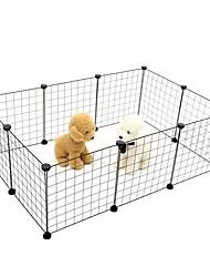 Недорогие -Мини / Прочный Одежда для собак Клетки Однотонный Белый / Черный Собаки / Кролики / Коты