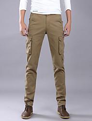 economico -Per uomo Essenziale / Militare Chino / Pantaloni della tuta Pantaloni - Tinta unita