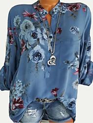 Недорогие -Жен. На выход Рубашка Цветочный принт