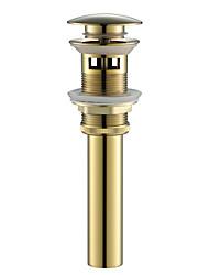 preiswerte -Wasserhahn Zubehör - Gehobene Qualität - Moderne Messing Pop-up Wasserablauf mit Überlauf - Fertig - Chrom