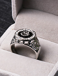 cheap -Men's Hollow Out Statement Ring - Rhinestone, Alloy Lion, Animal Personalized, Luxury 8 / 9 / 10 / 11 / 12 Silver / Golden For Party Gift Daily