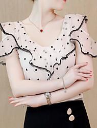 Недорогие -женская блузка - горошка с круглой горкой