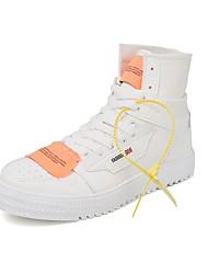 Недорогие -Муж. Fashion Boots Полотно Наступила зима Ботинки Сапоги до середины икры Белый / Черный / Бежевый