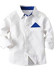 preiswerte -Kinder / Baby Jungen Solide / Druck / Einfarbig Langarm Bluse