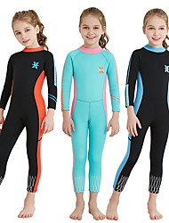 cheap -Dive&Sail Girls' Full Wetsuit 2.5mm SCR Neoprene Diving Suit Stretchy Long Sleeve Back Zip Autumn / Fall / Summer