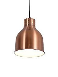 Недорогие -современные гальванизированные красные бронзерные подвесные светильники 1 светлый металлический оттенок гостиная столовая использование 1 лампа e26 / e27