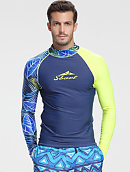abordables -SBART Homme Anti Irritation Séchage rapide Polyester / Nylon / Spandex Manches Longues Maillots de Bain Tenues de plage Tee-shirts anti-UV, tops thermiques Natation / Surf / Snorkeling / Elastique