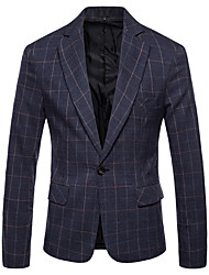 cheap -Men's Business Basic Blazer-Plaid