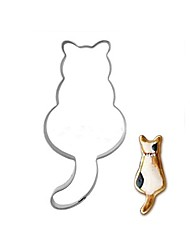 Недорогие -длинный хвост кошка печенье формы из нержавеющей стали торт плесень