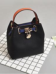 baratos -Mulheres Bolsas PU Conjuntos de saco 2 Pcs Purse Set Ziper Branco / Preto / Rosa
