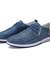 cheap -Men's Cotton Spring Comfort Sneakers Dark Blue / Gray / Light Blue