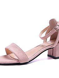 povoljno -Žene Cipele PU Ljeto D'Orsay cipele Sandale Kockasta potpetica Kopča Crn / Pink