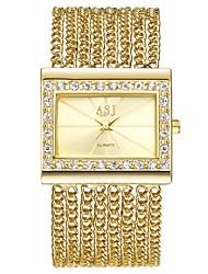 Недорогие -ASJ Жен. Нарядные часы / Часы-браслет Японский Повседневные часы Медь Группа Роскошь / Винтаж Серебристый металл / Золотистый