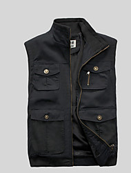 cheap -Men's Vest - Contemporary Stand / Sleeveless