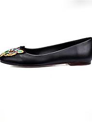 Недорогие -Жен. Обувь Микроволокно Весна Удобная обувь На плокой подошве На плоской подошве Круглый носок Животные принты Черный / Зеленый / Для вечеринки / ужина