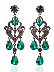 cheap -Women's Chandelier Drop Earrings - Drop Vintage, Baroque, European Green For Wedding / Party