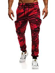 economico -Per uomo Moda città / Militare Chino / Cargo Pants Pantaloni - Tinta unita / Camouflage