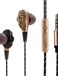cheap -JTX In Ear Wire Headphones Earphone Aluminum Alloy Sport & Fitness Earphone with Microphone / Comfy Headset