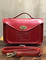 Недорогие -женские сумки nappa кожаная заклепка заклепка красный / черный / бежевый