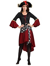 cheap -Pirates of the Caribbean Costume Women's Halloween / Carnival / Children's Day Festival / Holiday Halloween Costumes Black Solid Colored / Striped / Halloween Halloween