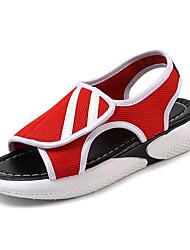 povoljno -Žene Cipele Mrežica Ljeto Udobne cipele Sandale Ravna potpetica Okrugli Toe Obala / Crn / Crvena