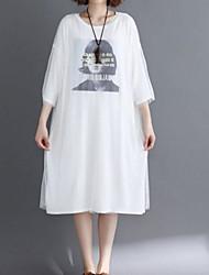 preiswerte -Damen T Shirt Kleid Midi