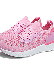 cheap -Women's Shoes Elastic Fabric Fall & Winter Comfort Athletic Shoes Running Shoes Flat Heel Black / Dark Blue / Light Pink