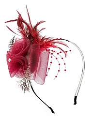 cheap -Feathers / Net Headbands / Flowers with Feather / Lace Side 1pc Wedding / Special Occasion Headpiece