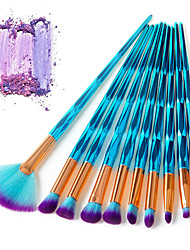 cheap -10-Pack Makeup Brushes Professional Makeup Brush Set Fiber Professional / Full Coverage Plastic
