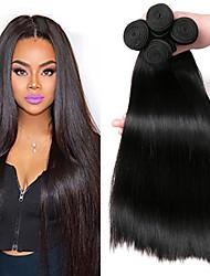 cheap -4 Bundles Brazilian Hair Straight Human Hair Headpiece / Natural Color Hair Weaves / Extension 8-28 inch Human Hair Weaves Machine Made Woven / New Arrival / Hot Sale Black Natural Color Human Hair