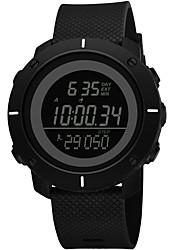 Недорогие -SYNOKE Муж. Спортивные часы электронные часы Цифровой Стеганная ПУ кожа Черный / Серый / Темно-синий 50 m Защита от влаги Календарь Секундомер Цифровой Мода - Темно-синий Серый Зеленый / Хронометр