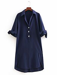 cheap -Women's Going out Shift / Shirt Dress Shirt Collar