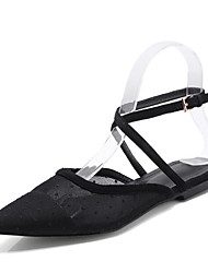 economico -Per donna Scarpe Retato Estate Con cinghia / Cinturino alla caviglia Zoccoli e ciabatte Piatto Appuntite Fibbia Nero / Serata e festa