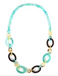 お買い得  -女性用 クロスボディ ストランドネックレス / ネックレス  -  ライトブルー 100 cm ネックレス 1個 用途 結婚式, 日常
