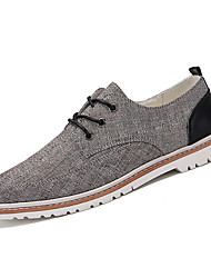 cheap -Men's Linen Summer Comfort Sneakers Beige / Dark Blue / Light Brown