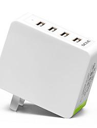 Недорогие -Зарядное устройство USB SC-U410 4 Настольная зарядная станция С быстрой зарядкой 2.0 Стандарт Австралии Адаптер зарядки