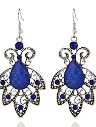 baratos -Mulheres Longas Brincos Compridos - Resina Formato de Folha Estiloso, Clássico Azul Real Para Diário