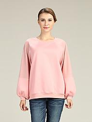 economico -Per donna Sleeve Lantern Pullover Tinta unita