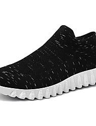 cheap -Men's Knit / Elastic Fabric Summer Comfort Sneakers Black / Gray