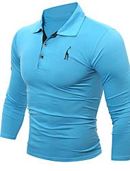 Недорогие -Муж. Спорт Рубашка Однотонный / Длинный рукав