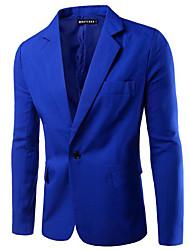 Недорогие -мужская работа блейзер-сплошной цветной воротник рубашки